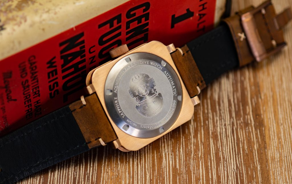 Bronze-Uhr-Gehäuseboden-Titan-Allergiker