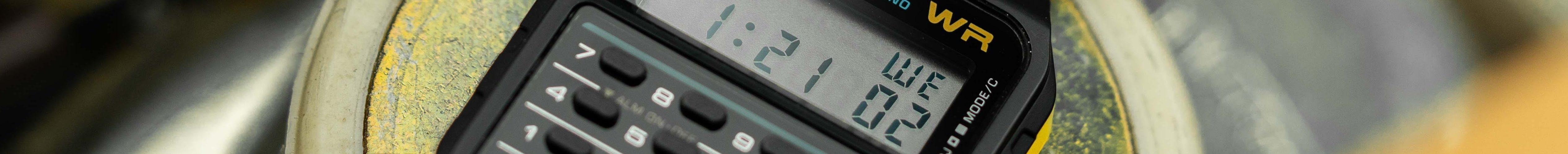 Casio Taschenrechner Uhr Retro 80er Test - Kopie