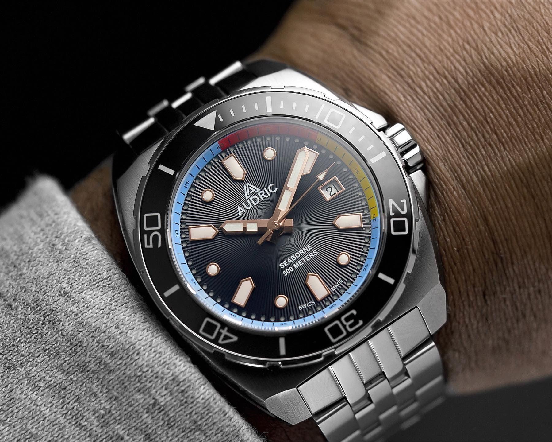 Read more about the article AUDRIC Watches SeaBorne 500 M: Farbenfroher Swiss Made-Diver im Kickstarter-Vorverkauf