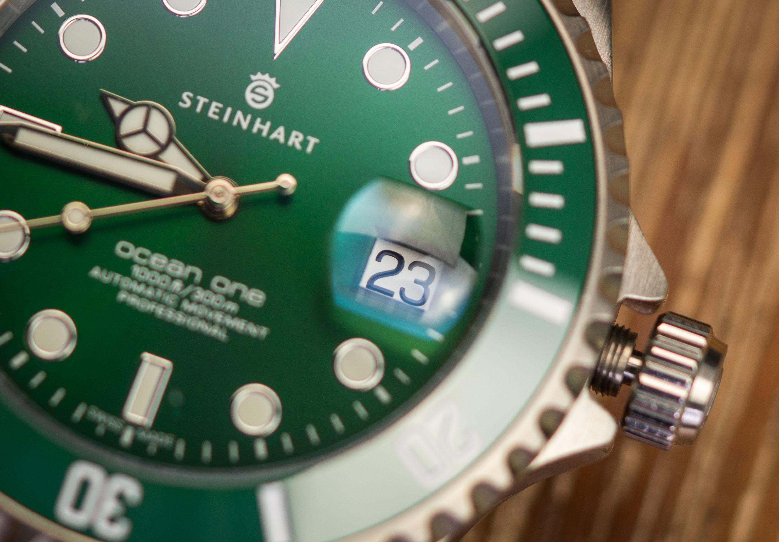 Steinhart-Ocean-One-Rolex-Hommage-Grün-42-Test
