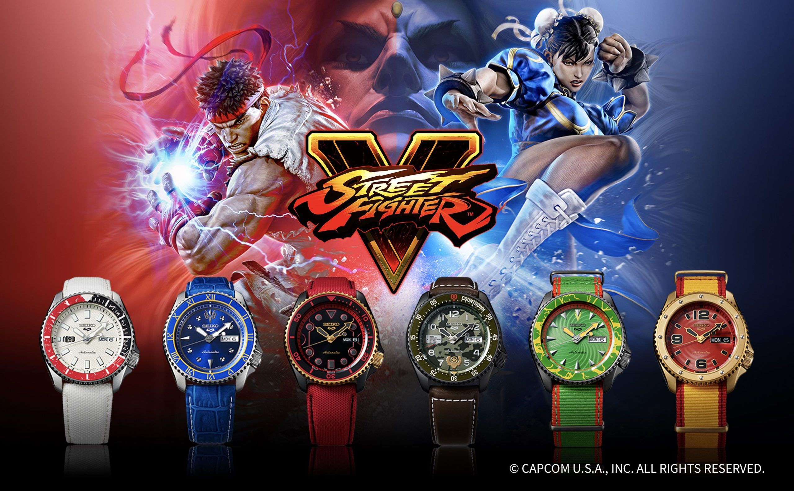 Round 1. FIGHT! Seiko Street Fighter Automatik-Uhr