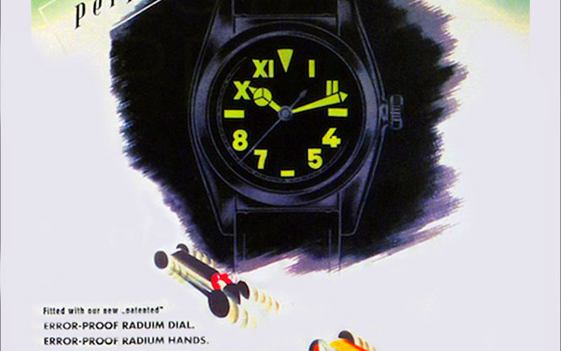 Rolex-Oyster-Radium-Zifferblatt-Reklame