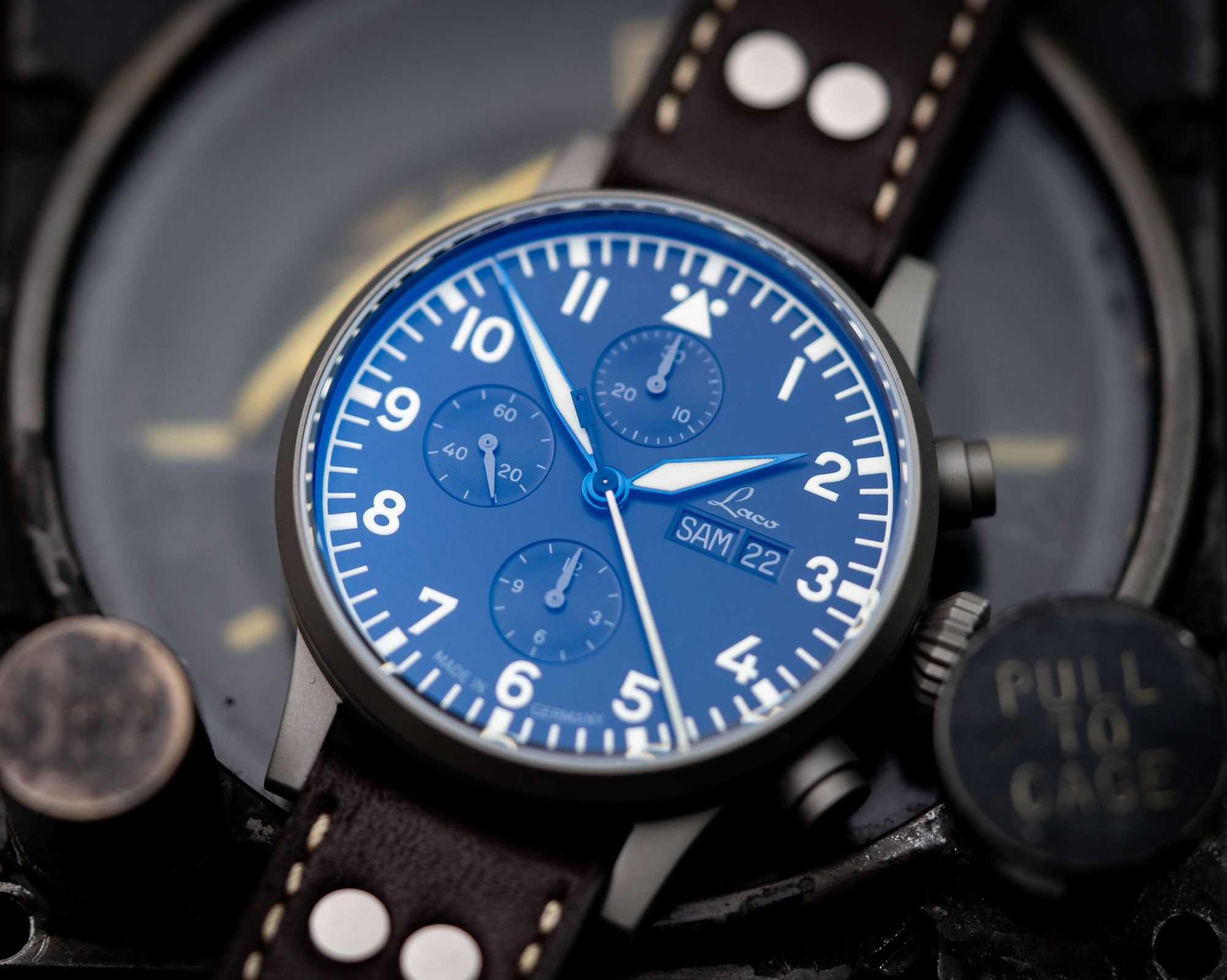 Read more about the article Laco München Chronograph: A-Muster im Ninja-Gewand