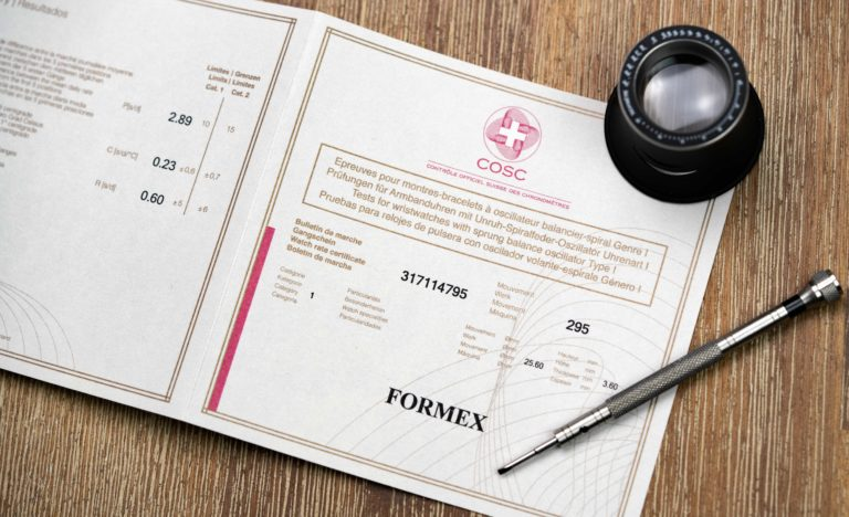 Formex-Reef-gruen-Chronometer COSC