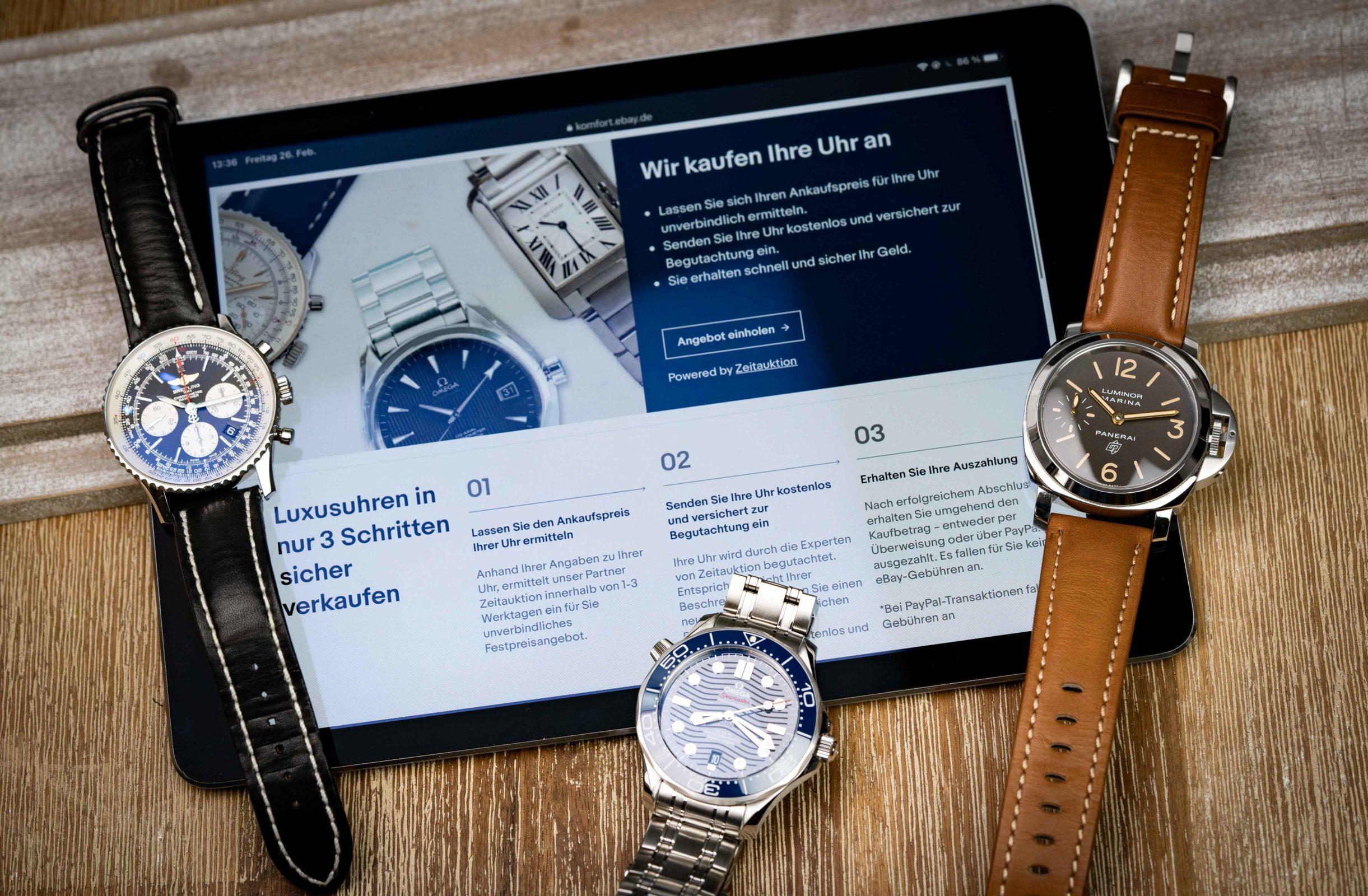 Read more about the article Uhren-Ankauf online: Neuer kostenloser eBay Komfort-Service