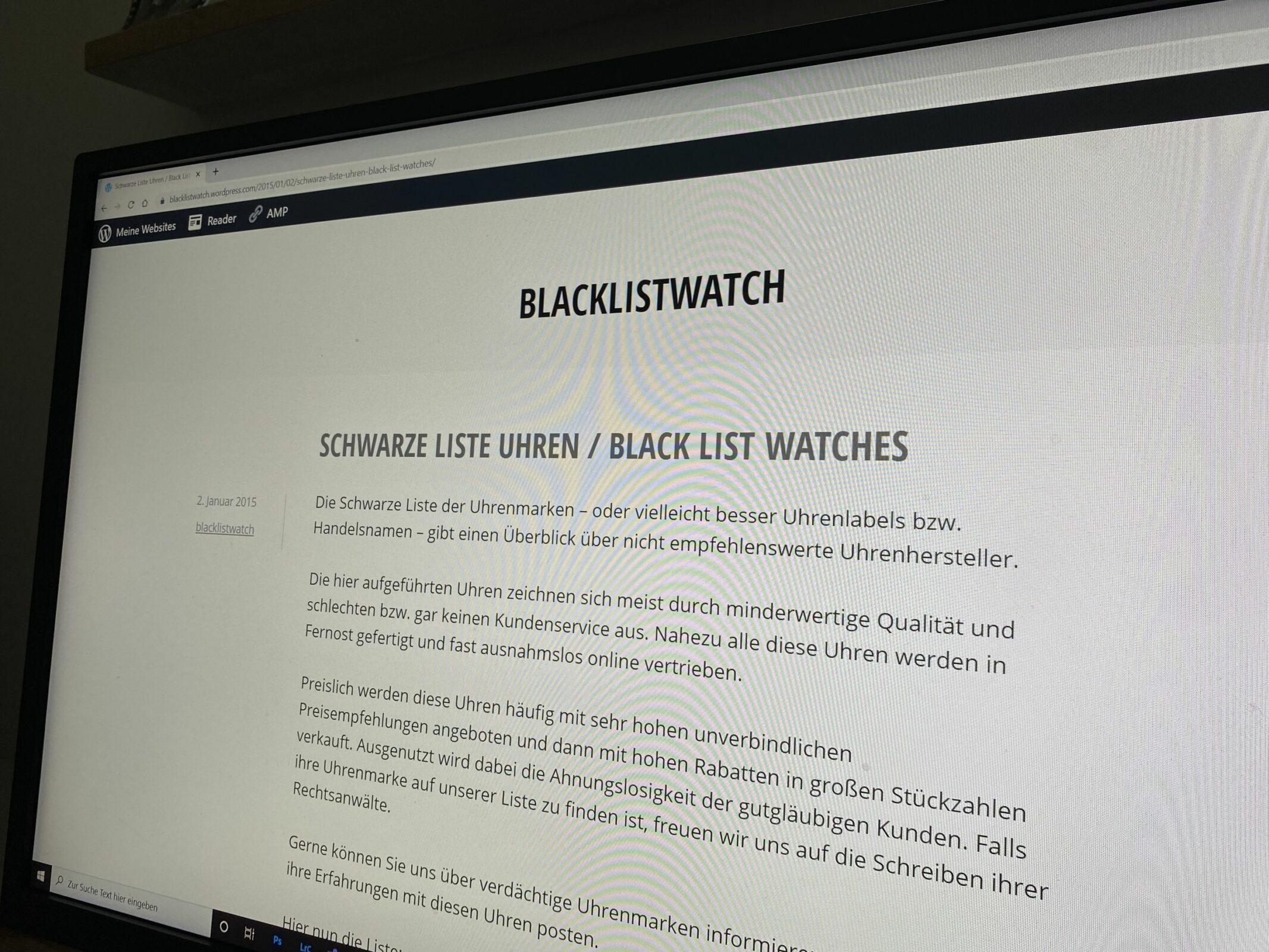 """Read more about the article Nicht totzukriegen: Die """"Schwarze Liste Uhren"""" (Black List Watches)"""